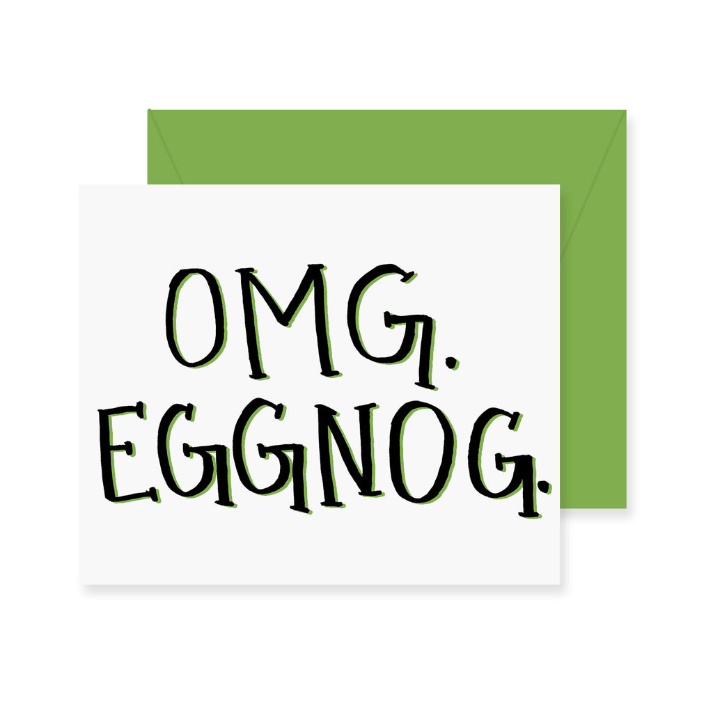 OMG EGGNOG Greeting Card