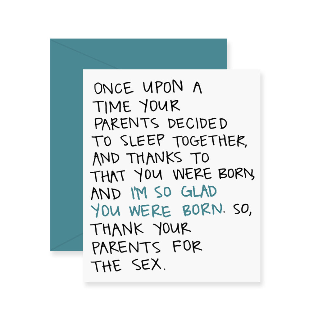 Thank Your Parents Birthday Greeting Card