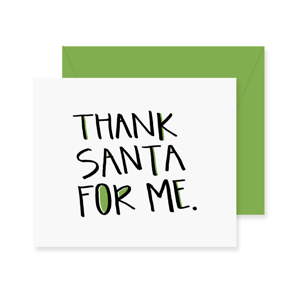 Thank Santa Greeting Card
