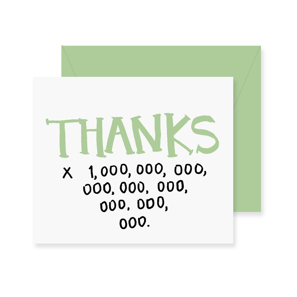 Thanks x A Million Greeting Card