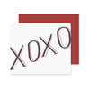 XOXO Valentine Greeting Card