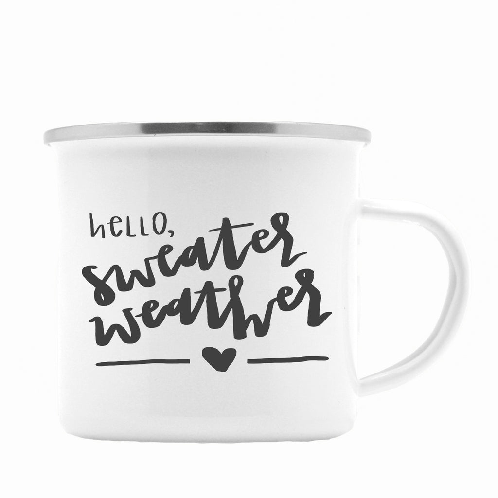 Hello Sweater Weather Camper Coffee Mug