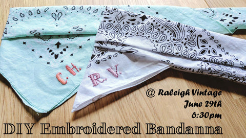 DIY Embroidered Bandannas