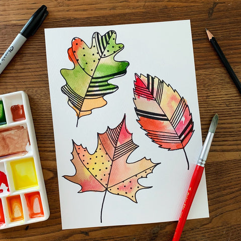 children's and teen's watercolor classes in Raleigh North Carolina at Craft Habit Raleigh