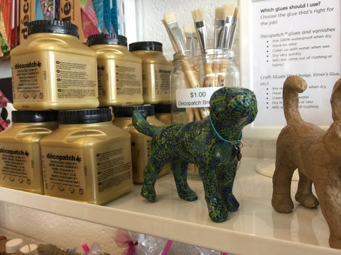 Decopatch decoupage animals and varnish at craft habit raleigh