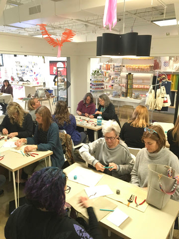 group crafting at craft habit raleigh workspace classes