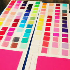 spandex color card