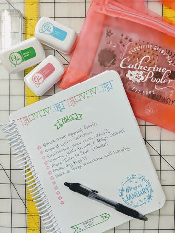 bullet journaling supplies from Catherine Pooler stamps in Raleigh NC at Craft Habit Raleigh