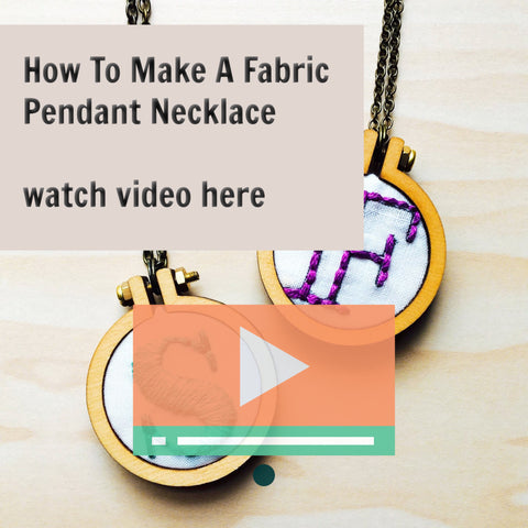 How To Make A Fabric Pendant Necklace With Dandelyn Mini Hoops and Craft Habit Raleigh