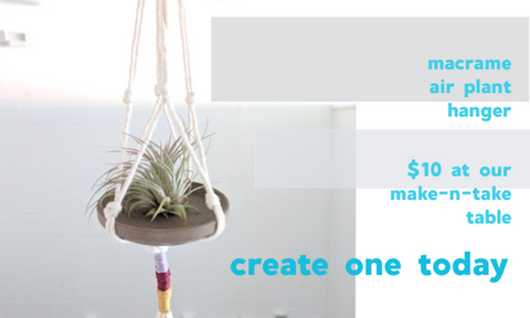 macrame plant hanger how to and project at craft habit raleigh north carolina