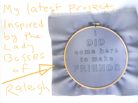 Make Friends Embroidery