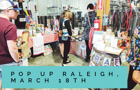 Pop Up Raleigh booth