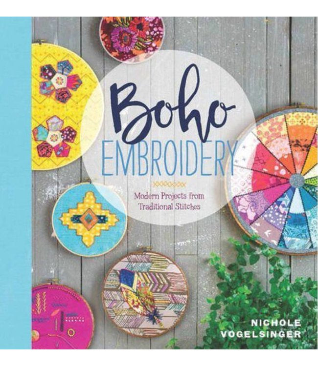 Boho Embroidery by Nichole Vogelsinger