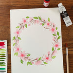 Watercolor Workshop - Cherry Blossom Wreath