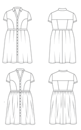 Cashmerette Lenox Shirtdress sewing pattern