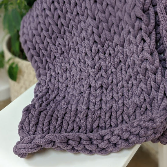 Finger Knit Baby Blanket