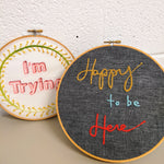 Embroidering Text