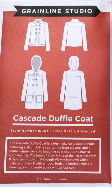 Grainline Studio Cascade Duffle Coat sewing pattern
