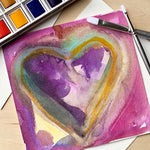 Abstracted Watercolor Hearts