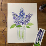 Watercolor Workshop - Lilacs in a Mason Jar