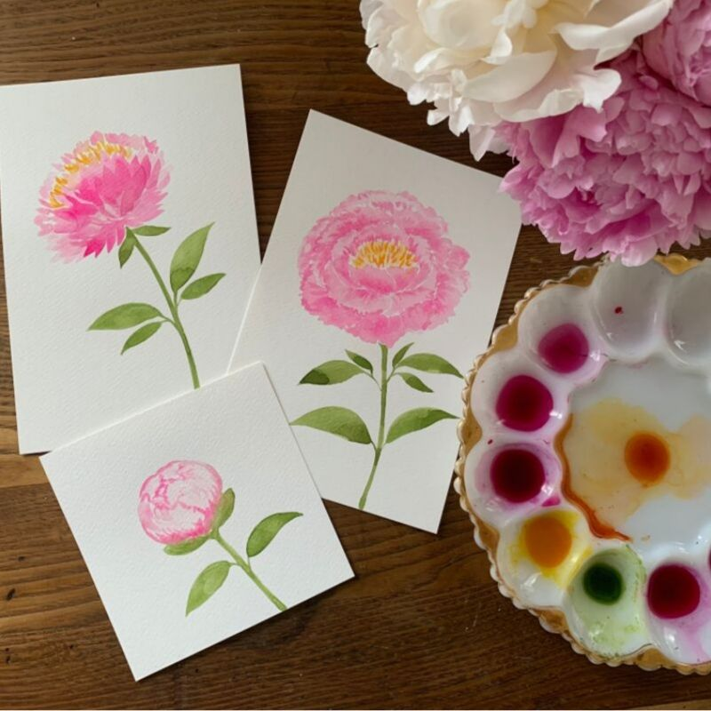 Watercolor Workshop - Peonies