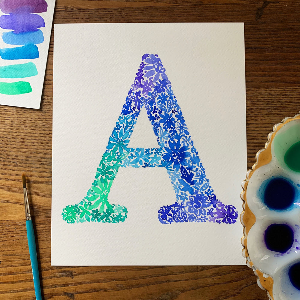 Watercolor Workshop - Floral Monogram