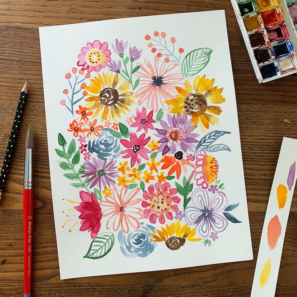 Watercolor Workshop - Modern Florals