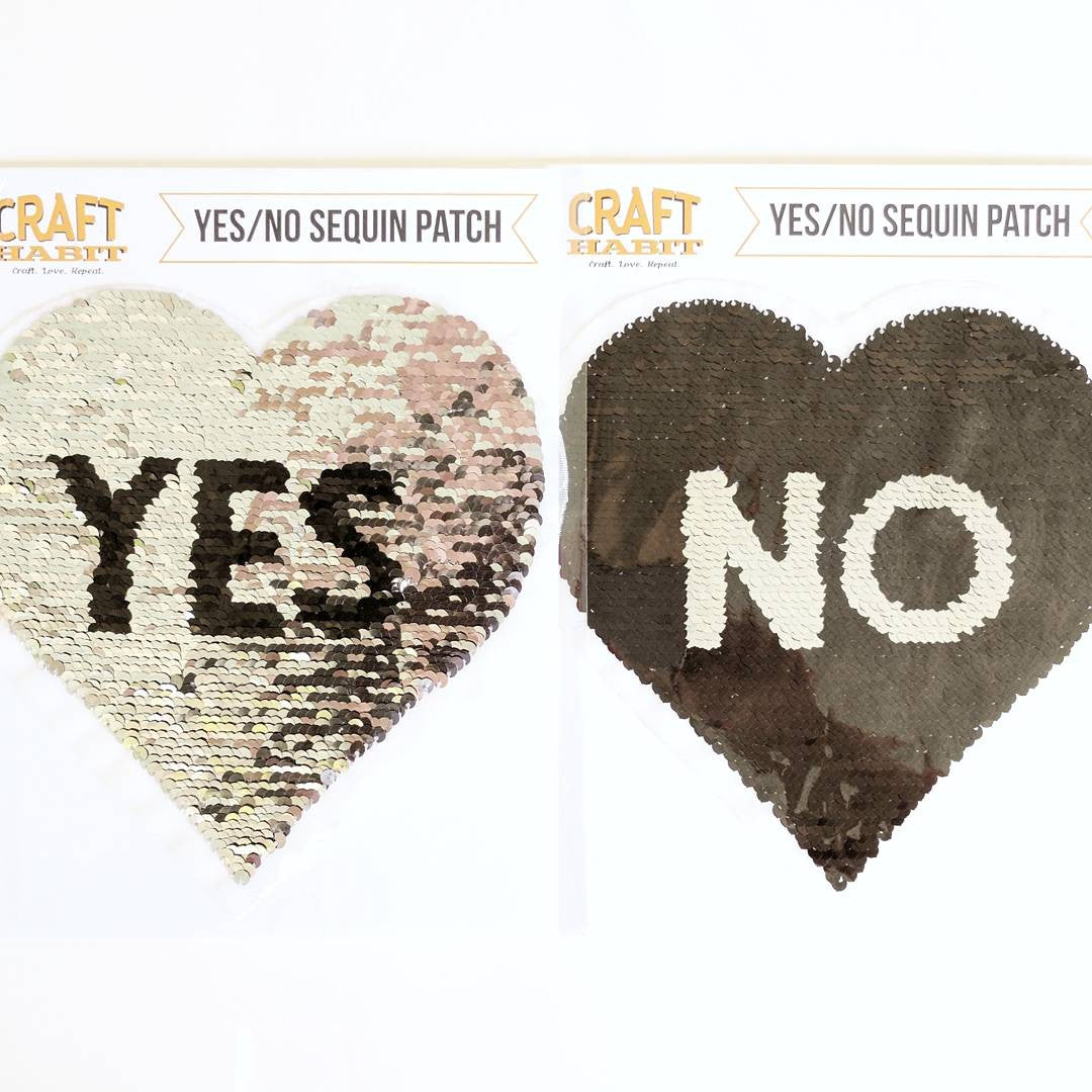 Yes/No Sequin Patches