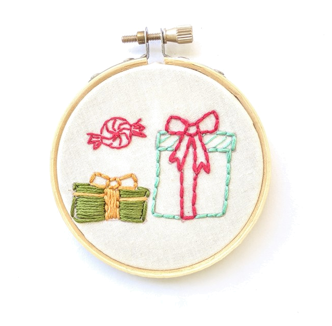 Embroidered Holiday Ornament Kit