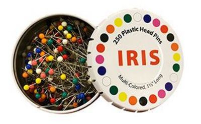"Iris 1.5"" Multi-colored Sewing Pins"