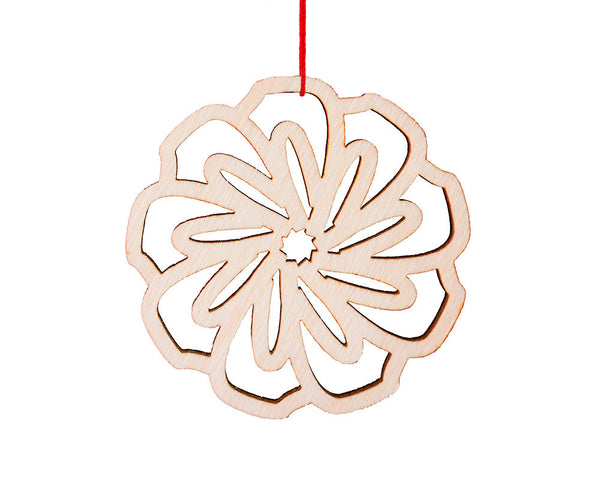 Wooden Flower Ornament