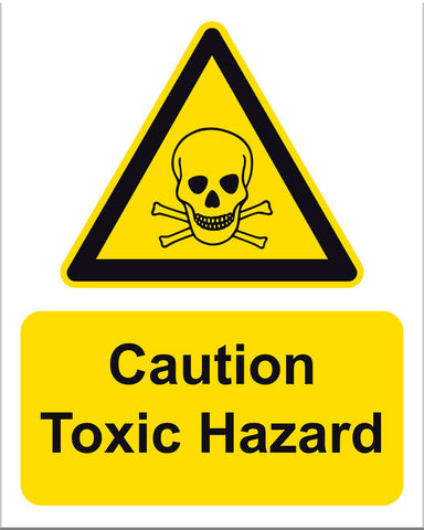 Caution Toxic Hazard Sign - Markit Graphics