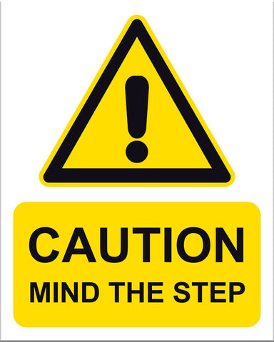 Caution Mind the Step - Markit Graphics