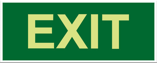 Exit (Luminous) Sign - Markit Graphics