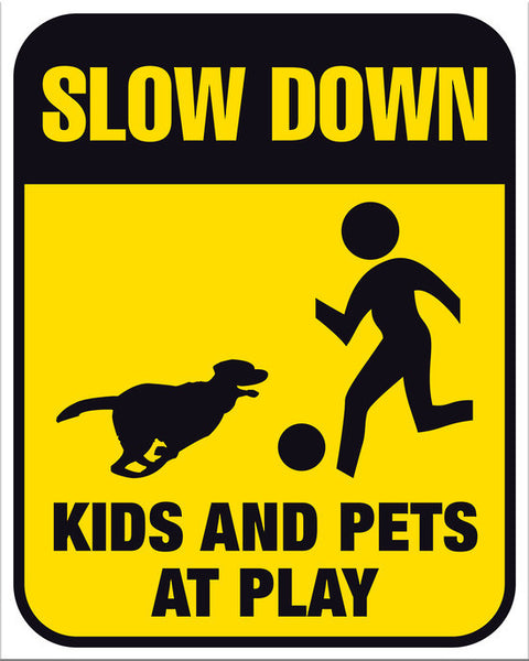 Slow Down Kids and Pets at Play - Markit Graphics