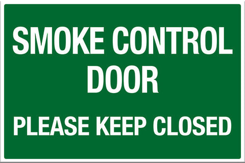 Smoke Control Door Please Keep Closed - Markit Graphics