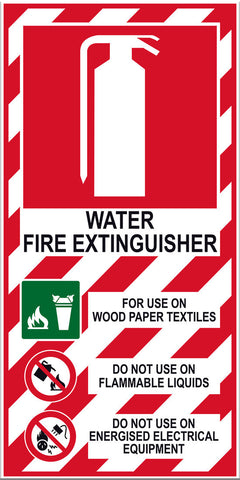 Fire Extinguisher Water Sign - Markit Graphics