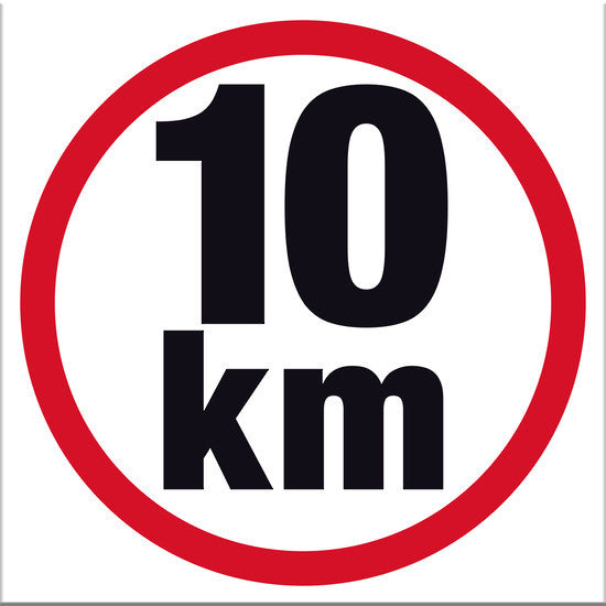 10 km Sign - Markit Graphics