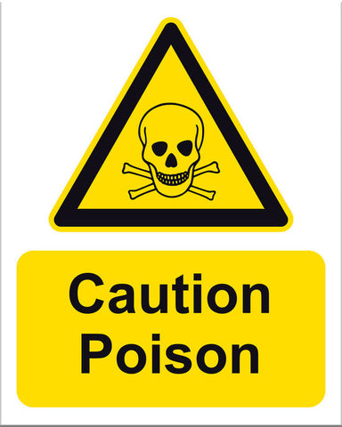 Caution Poison Sign - Markit Graphics