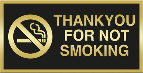 THANKYOU FOR NOT SMOKING - Markit Graphics