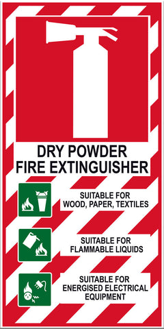 Fire Extinguisher Dry Powder Sign - Markit Graphics