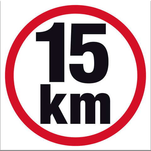 15 km Sign - Markit Graphics