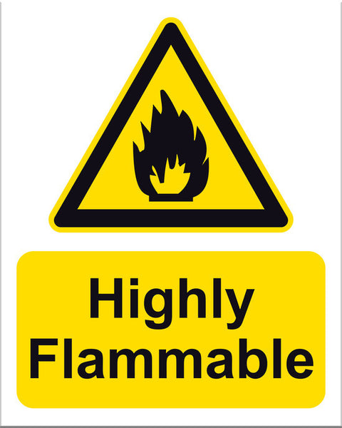 Highly Flammable Sign - Markit Graphics