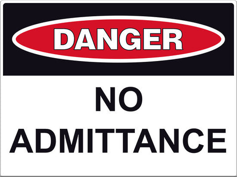 Danger No Admittance Sign - Markit Graphics