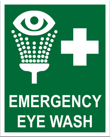Emergency Eye Wash Sign - Markit Graphics