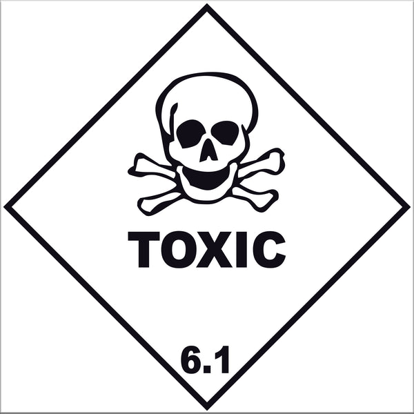 Toxic 6.1 Labels - 10 Pack