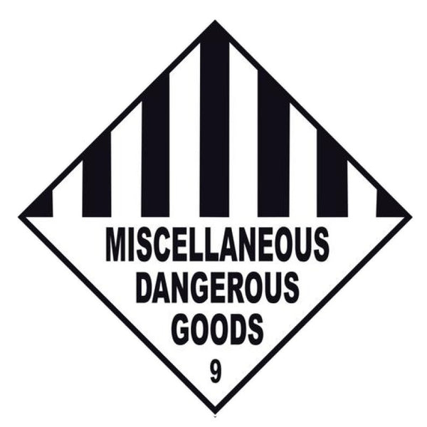 Miscellaneous Dangerous Goods 9 Labels - 10 Pack