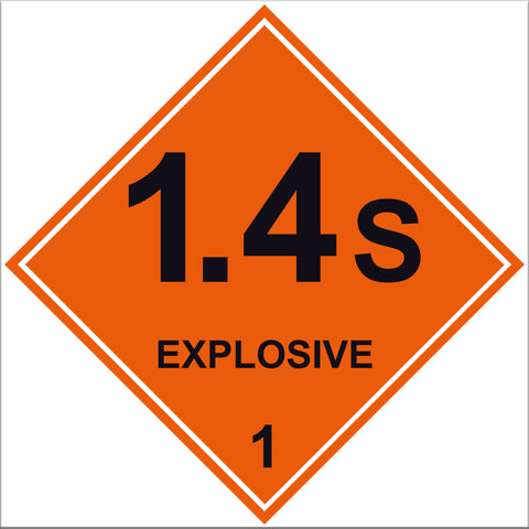 Explosive 1.4S Labels - 10 Pack