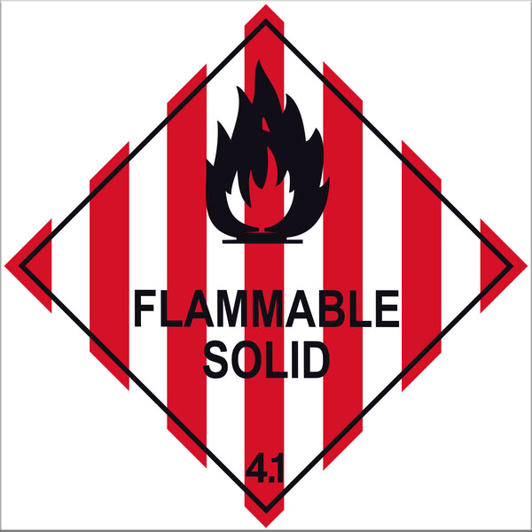 Flammable Solid 4.1 Label Signs - 10 Pack