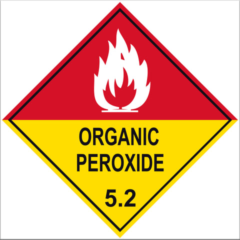 Organic Peroxide 5.2 Label Signs - 10 Pack